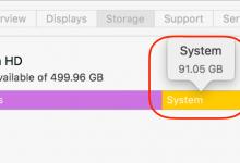 """macOS 10.13 本地快照(local snapshot)导致""""系统""""文件变大"""